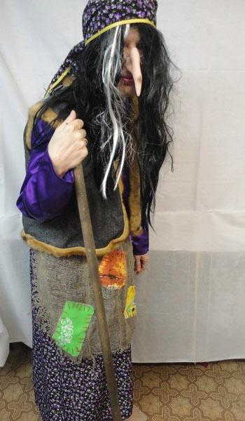 Как сделать волосы для костюма бабы яги